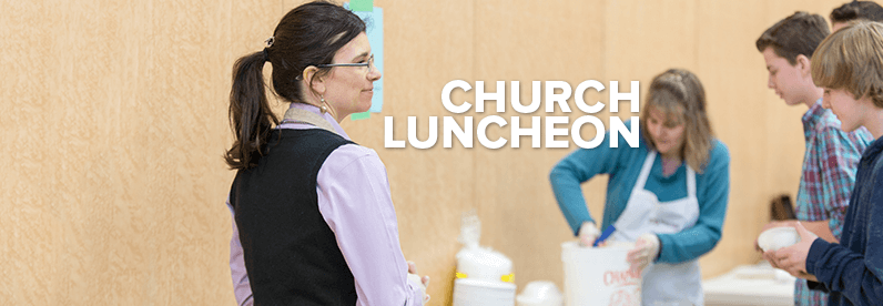 All-Church Luncheon Sunday, November 5