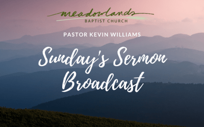 Sunday's Sermon Broadcast for March 29, 2020