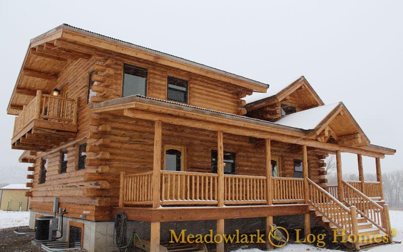 Log Chalets Meadowlark Log Homes