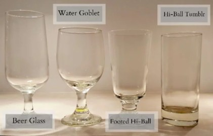 Glassware Rentals - Water and Beer Glasses