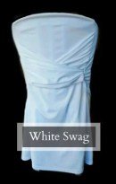 Chair Rentals - White Swag Chair Cover