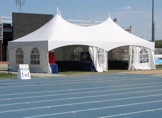 White 20'x40' Tent by school track