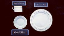 Gold Rim Dinnerware