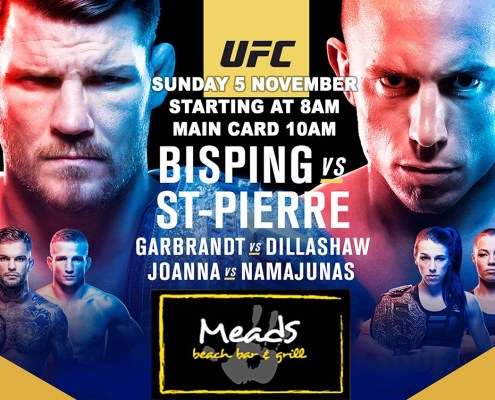 Meads In Bali LIVE UFC Championship BISPING V ST-PIERRE LIVE
