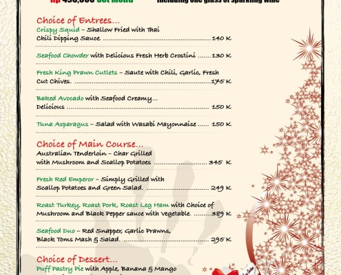 Meads Christmas New Year Special Food Menu 2017