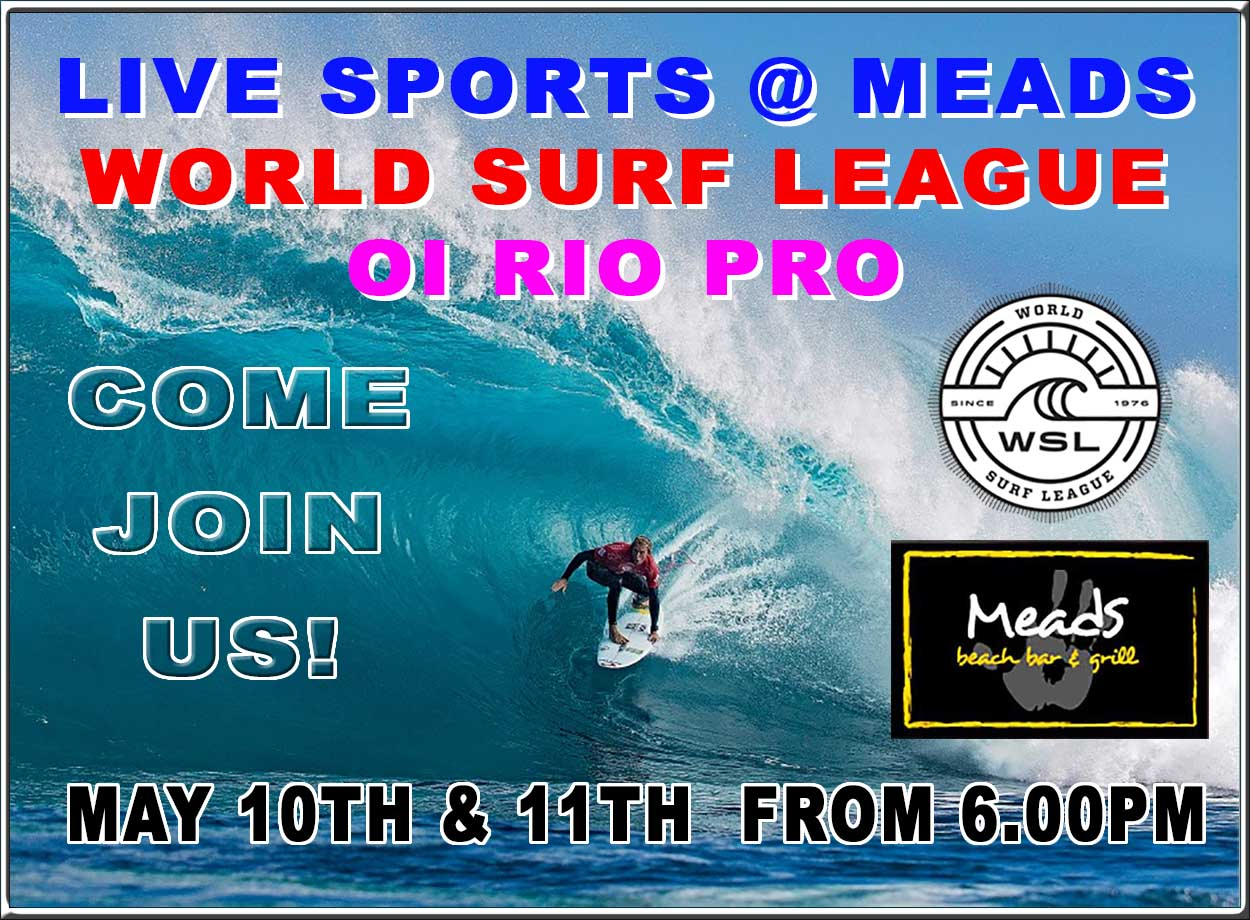 275529c8ad WORLD SURF LEAGUE OI RIO PRO LIVE AT MEADS IN BALI