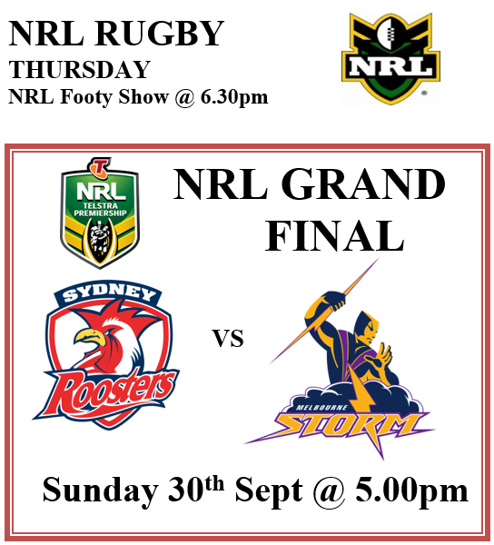 NRL Grand Finals 2018 Live @ Meads in Bali