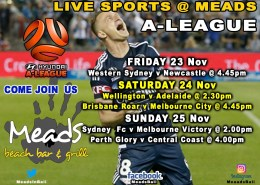 MEADS IN BALI LIVE SPORTS - A-League