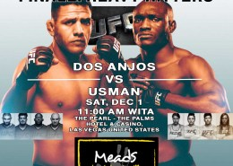 Watch The Ultimate Fighter Finale Live @ Meads in Bali