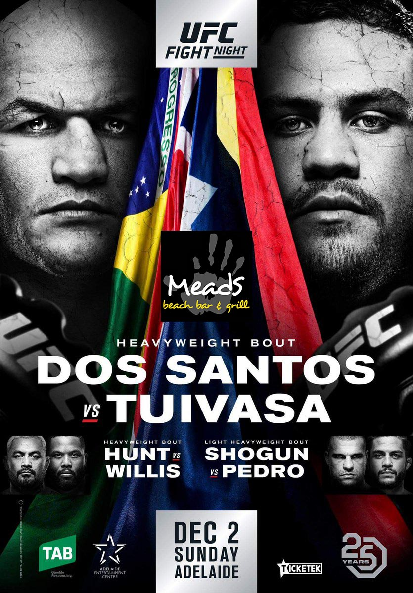 Where to watch Dos Santos v Tuivasa in Bali ufc adelaide