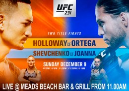 Meads Sports in Bali UFC Holloway v Ortega