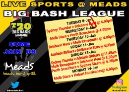 Meads in Bali Sports Big Bash League