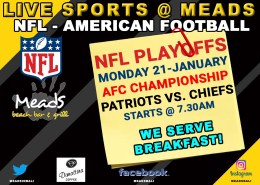 Patriots vs. Chiefs AFC Championship Playoff Meads Bali