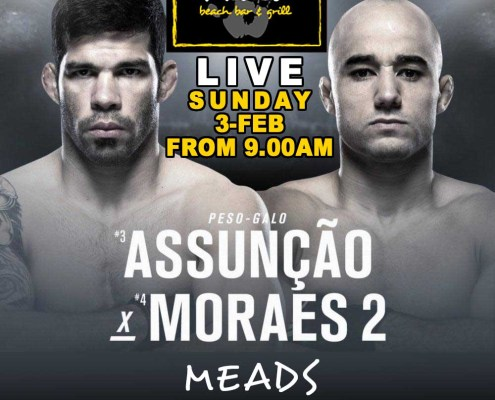 meads bali live sports ufc fight night assuncao Moraes 2