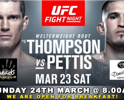 ufc fight night thompson wonderboy pettis meads beach bar grill bali
