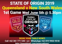 Watch 2019 State of Origin Series LIVE Meads Beach Bar & Grill Bali