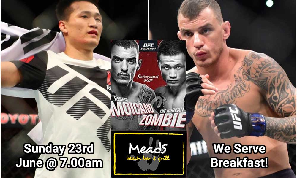 Meads Presents UFC in Bali Live Moicano v Korean Zombie
