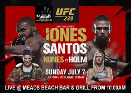 UFC 239 Jones v Santos LIVE at Meads n Bali