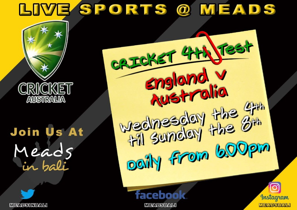 CRICKET : 4th Test England v Australia
