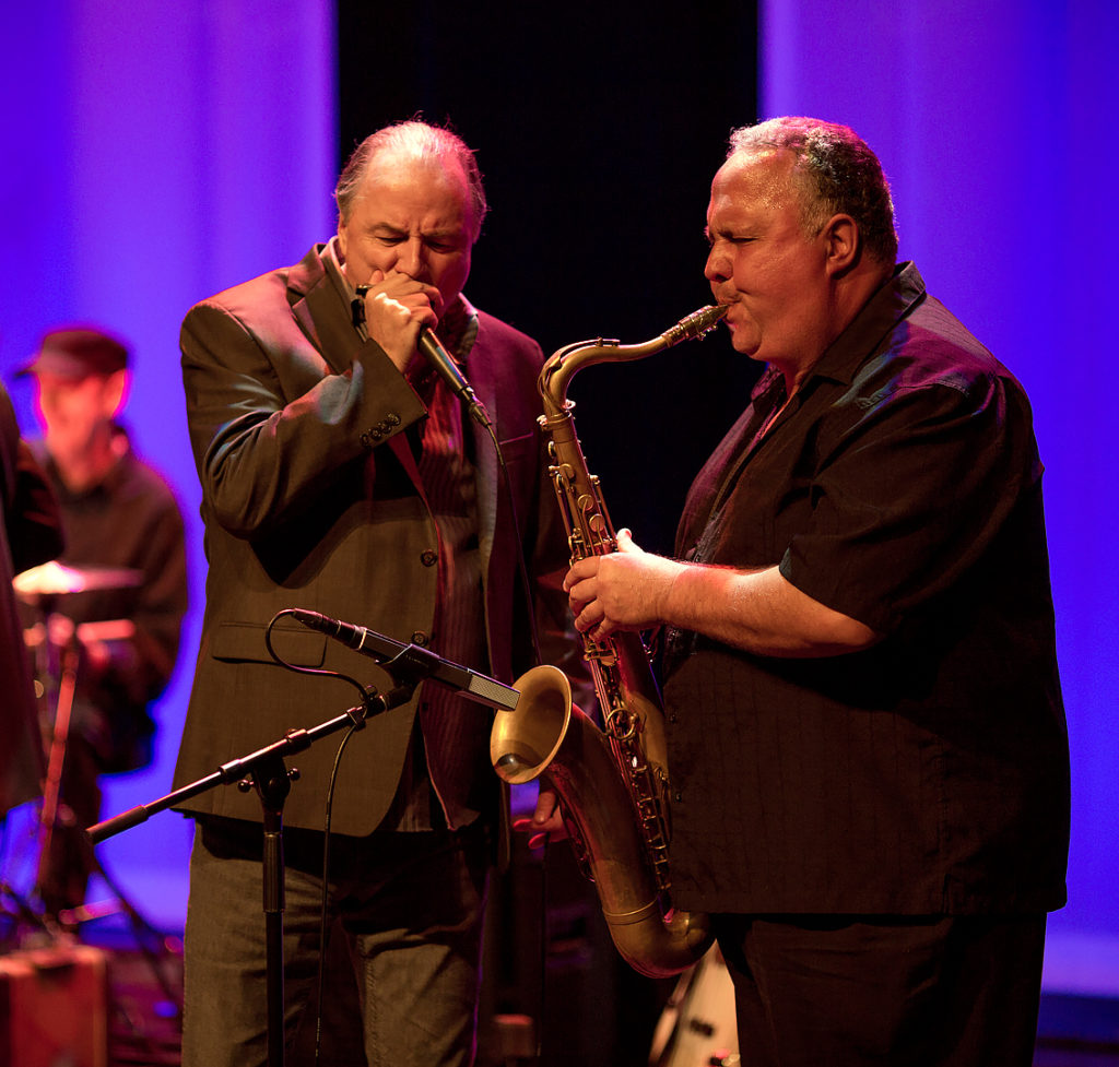 Vocalist Chuck Jackson and sax player Pat Carey