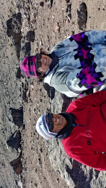 man and woman on Chimborazo mountain