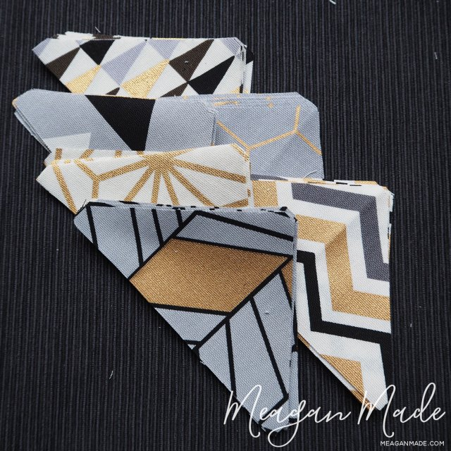Cut quarter square triangles | MeaganMade.com