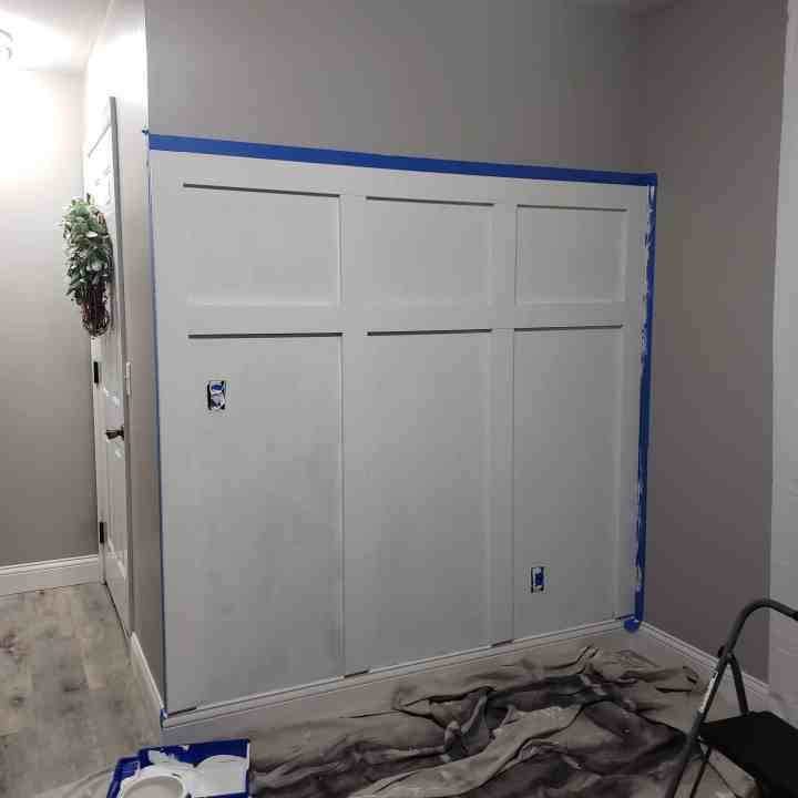 painting a board and batten wall