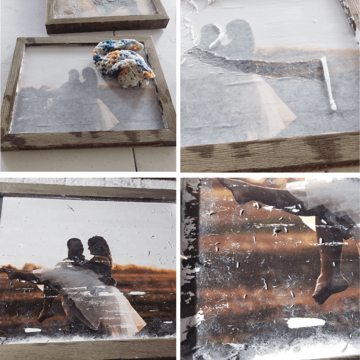 Photo of a wood print for a photo transfer tutorial
