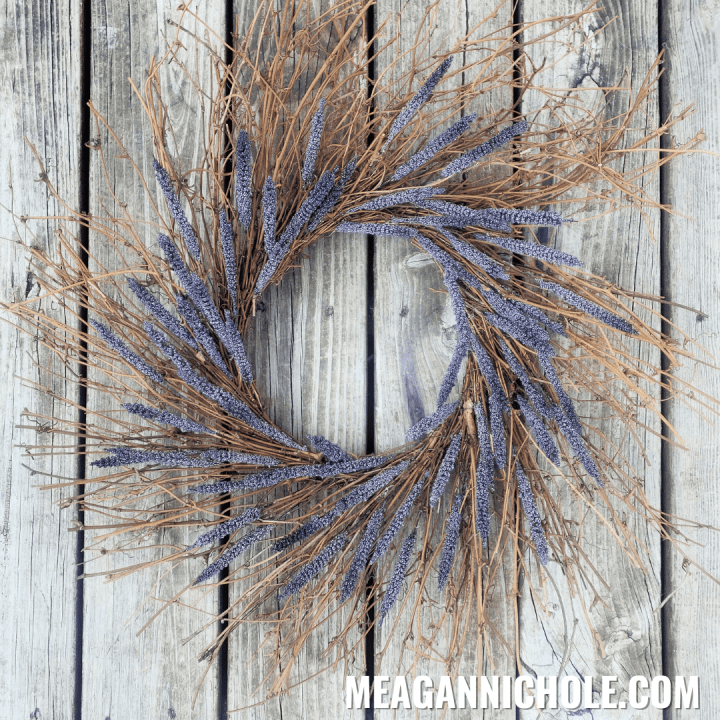 photo of a lavender wreath for blog tutorial