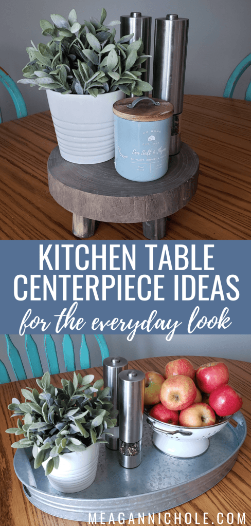 pin for Pinterest to promote a kitchen table centerpiece blog post