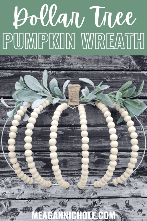 dollar tree pumpkin wreath diy blog post