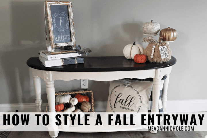 how to decorate your fall entryway blog post