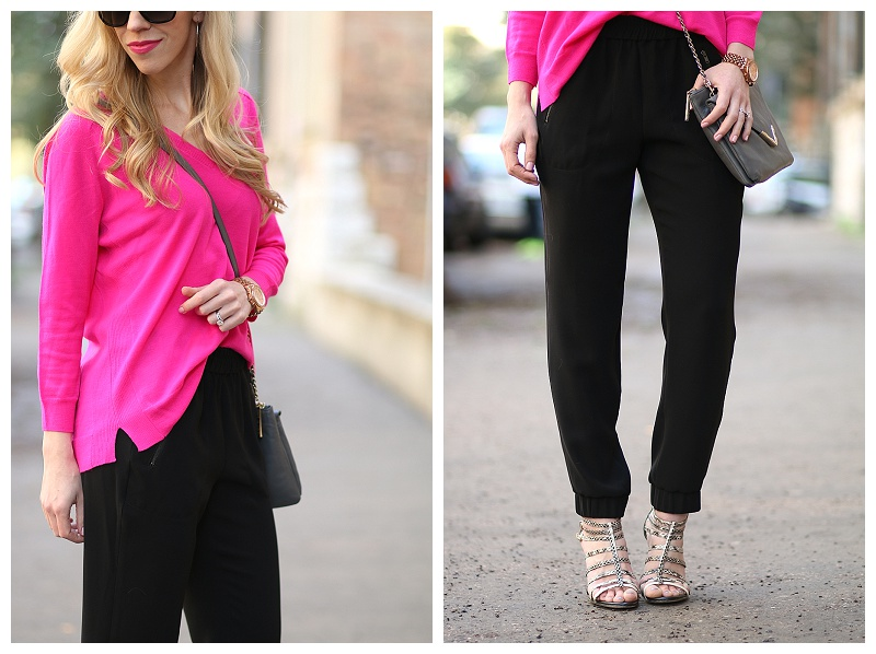 { Cecelia NY Collaboration: Neon Pink Sweater, Tapered