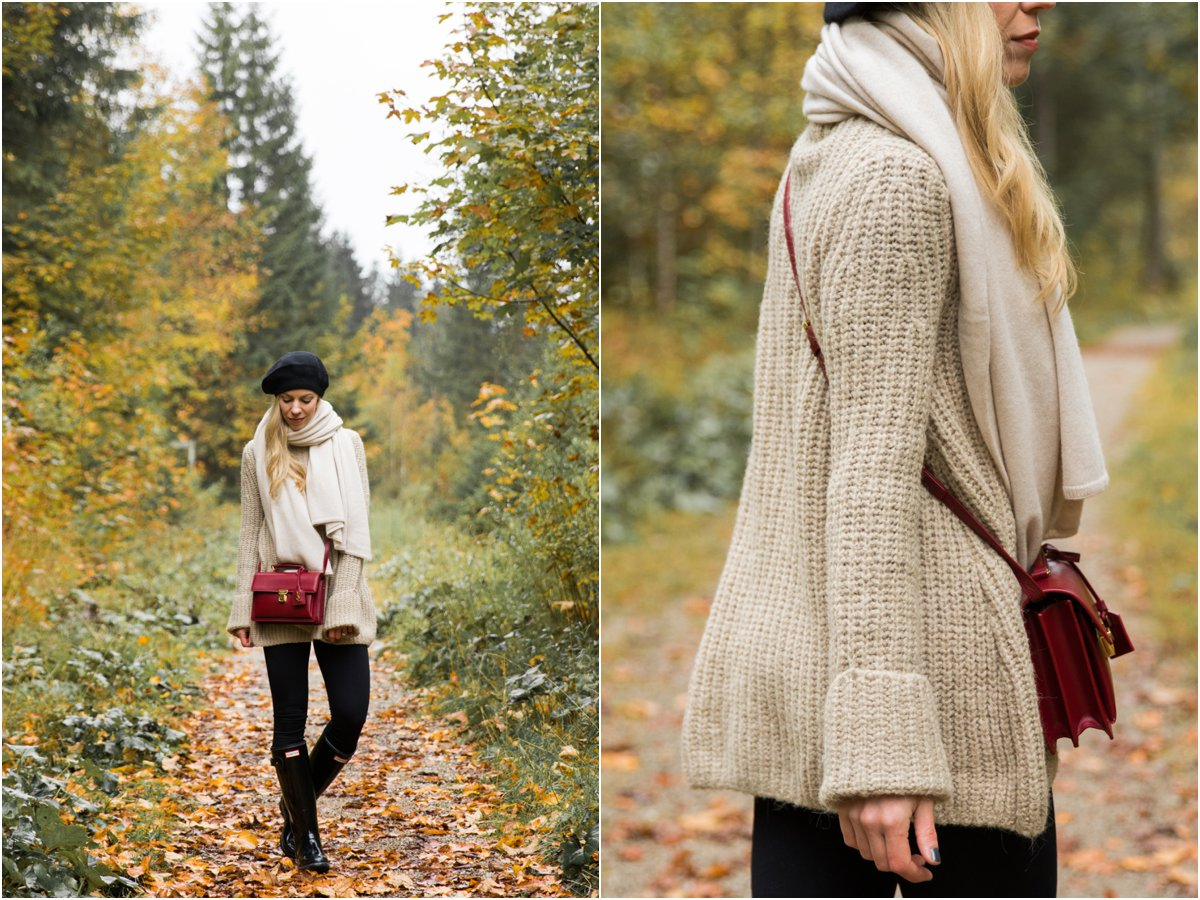{ What To Wear On A Rainy Fall Day: Cozy Layers & Hunter