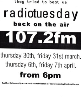 Radio Tuesday flyer
