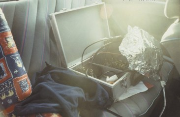 Transmitter broadcasting from the back seat of the car, 1999