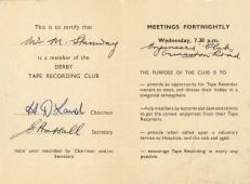 DTRC Membership Card 2
