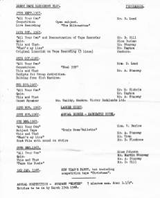 DTRC Programme - Sept, 1967 - Jan, 1968