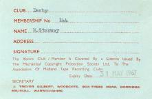 Association of Midland Tape Recording Clubs Licence - 1966