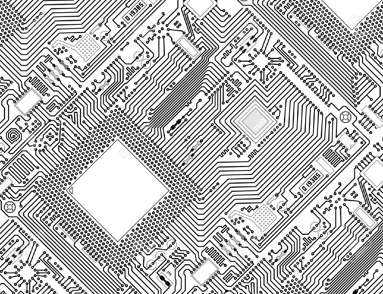 Black Circuit Board Background Red And Black Circuit Boards