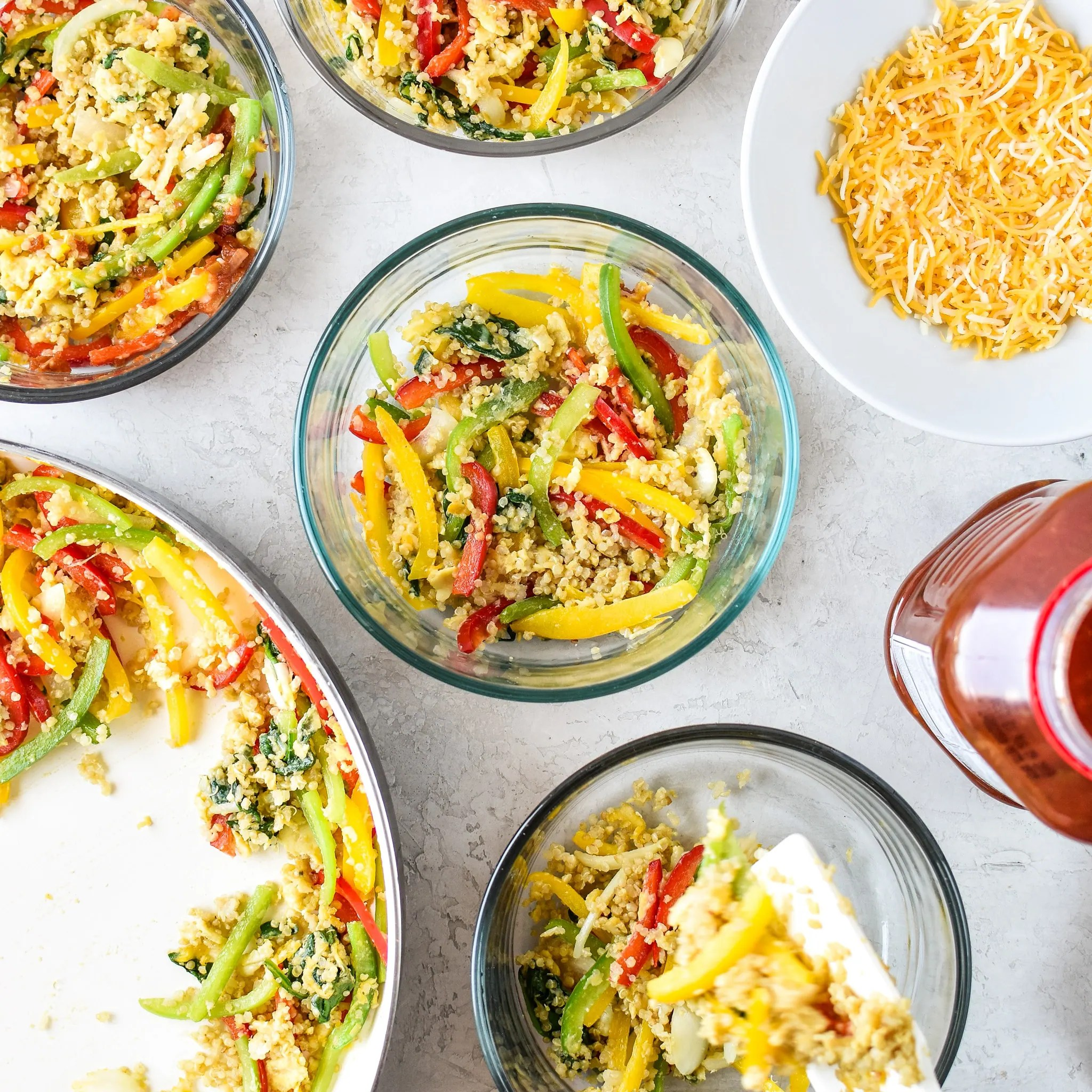 Freezer Friendly - Quinoa Egg Scramble Bowl