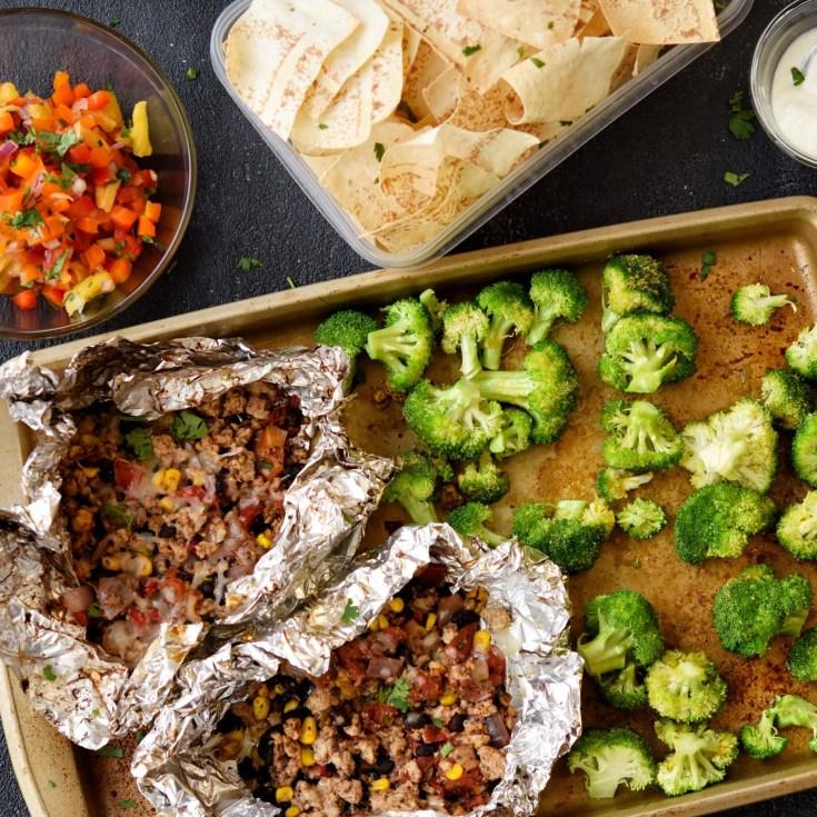 "Freezer Friendly Turkey Tacos ""In a Bag""  (Foil Pack)"