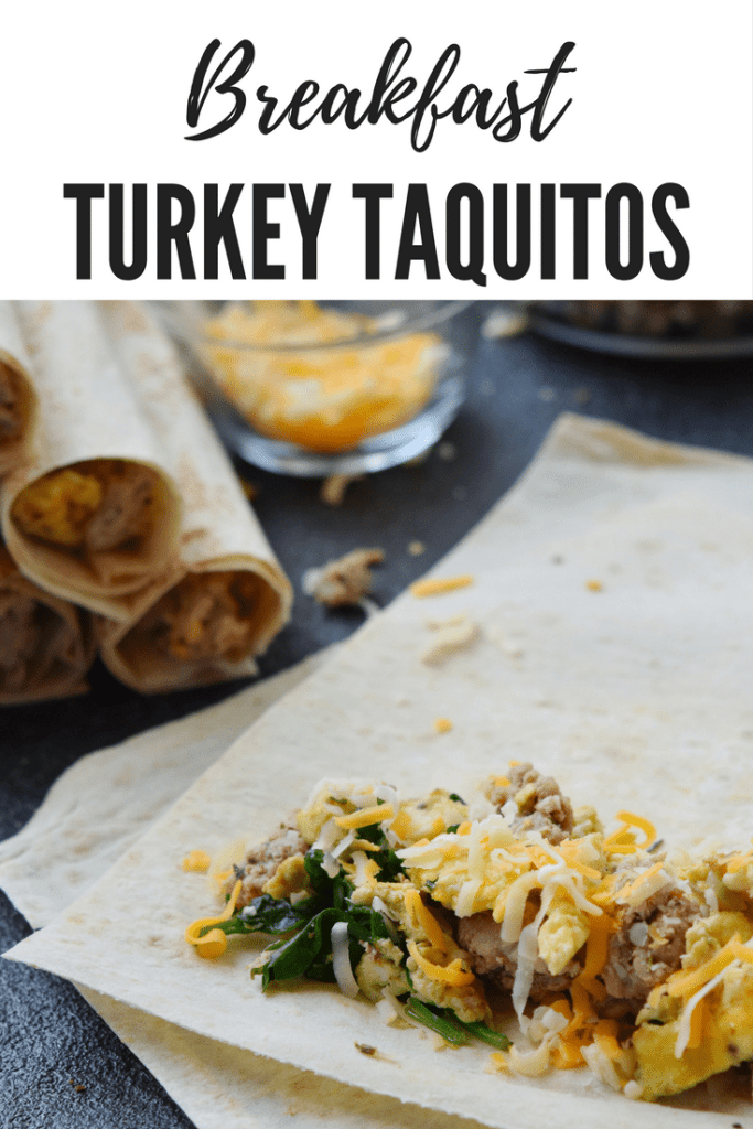 Breakfast Turkey Taquitos