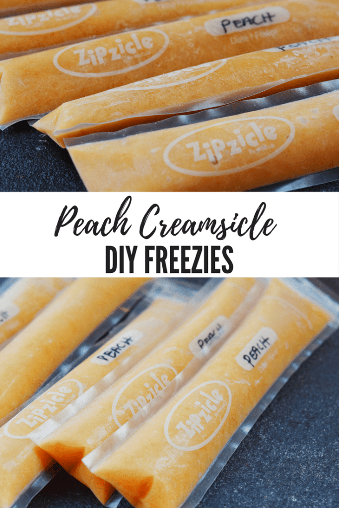 Peach Creamsicle DIY Freezies