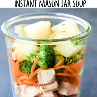 Leftover Turkey Instant Mason Jar Soup