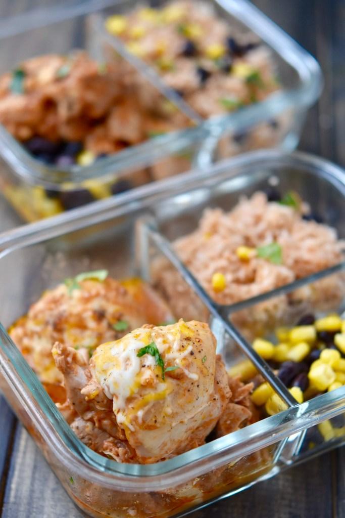 Instant Pot Fiesta Chicken {Meal Prep Bowls}