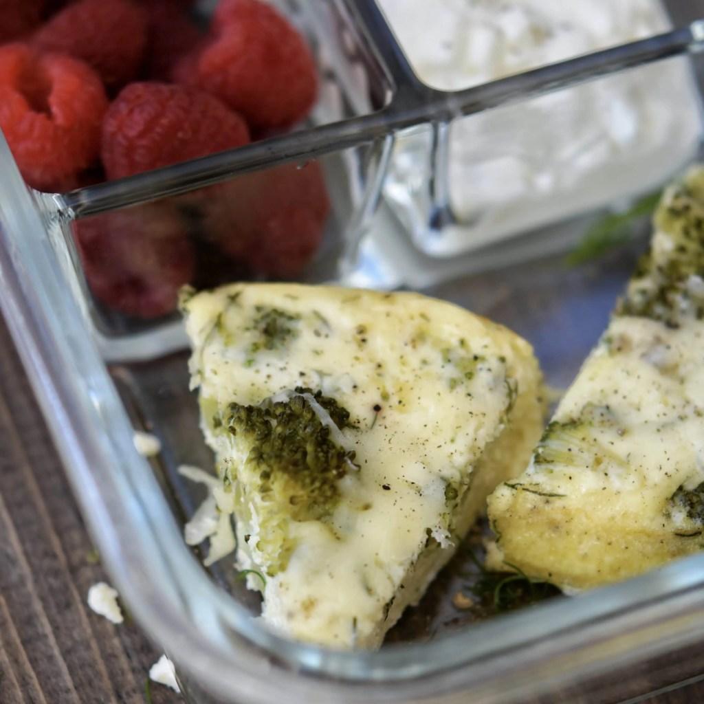 Instant Pot Frittata | Dill, Feta, & Broccoli {+ meal prep idea}