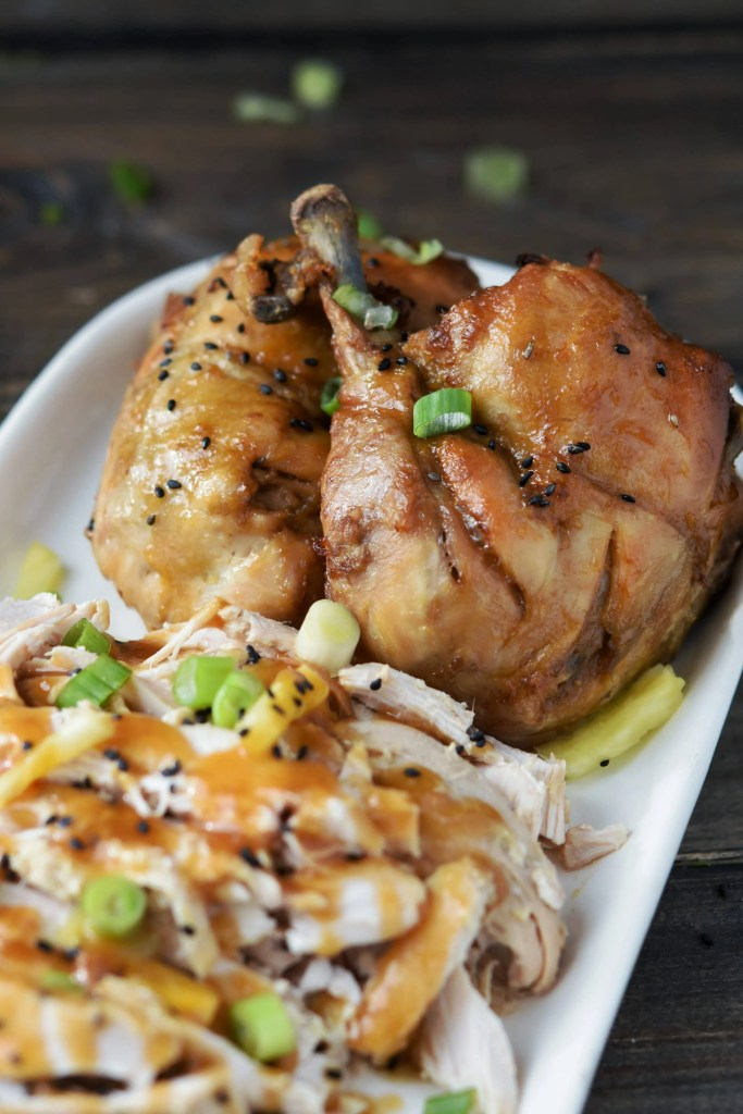 Instant Pot Pineapple Ginger Faux-tisserie Chicken {Freezer Friendly}