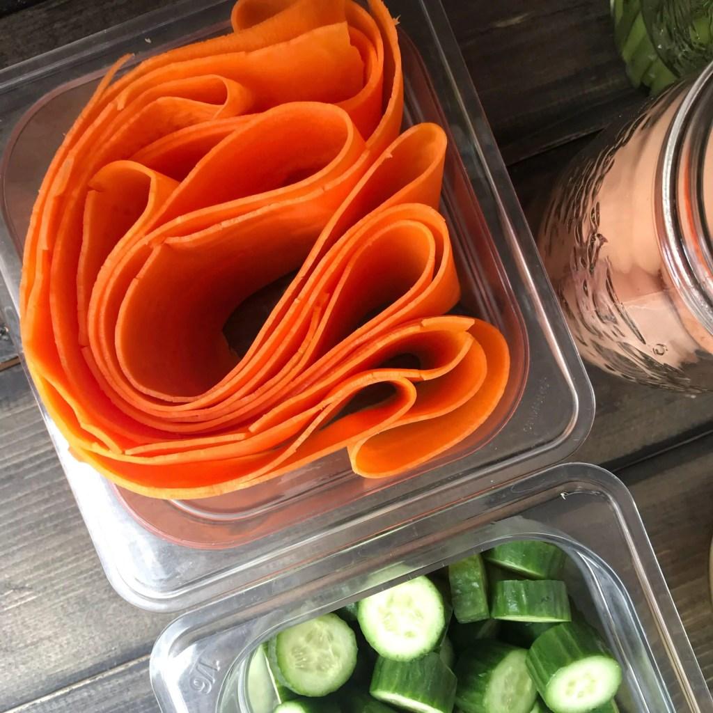 Carrot Sheet Wraps {Make Ahead}