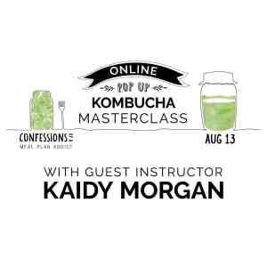 Online Pop Up Kombucha Class